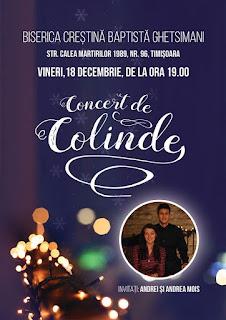 Concert de colinde cu Andrei si Andrea Mois la Biserica Ghetsimani Timisoara - 18 decembrie 2015