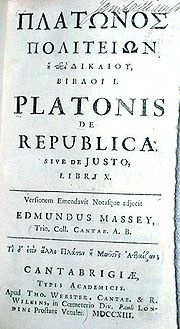 the important topic of justice in platos republic Plato's study guide  for the argument concerns no casual topic,  the appearance of justice is considered more important than the true reality.