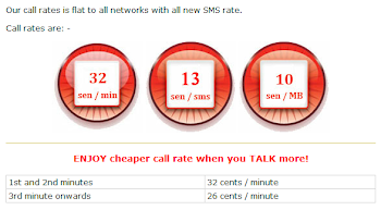 TuneTalk Call Rates
