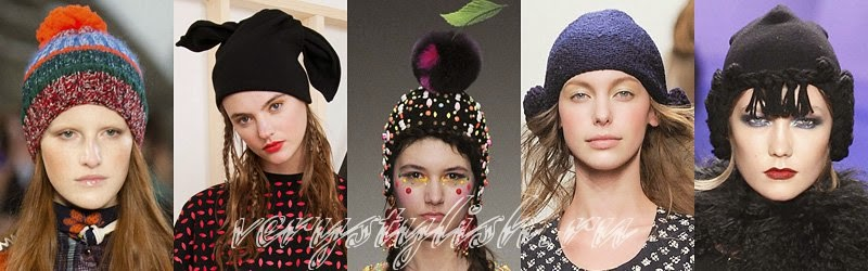 Fall Winter 2014 - 2015 Women's Knitted Hats Fashion Trends