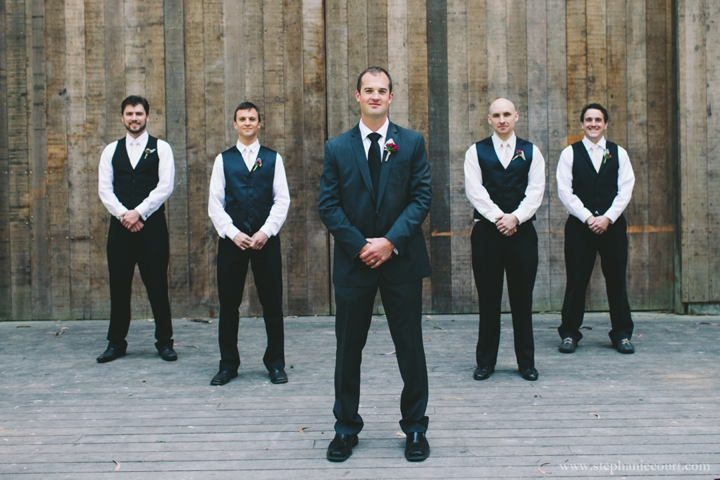 rustic chic groom and groomsment