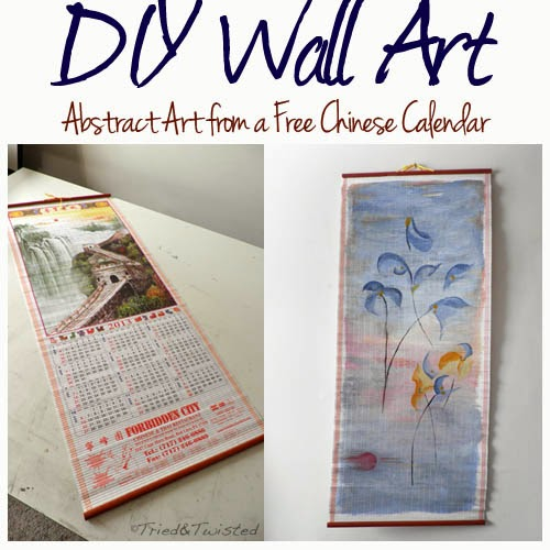 Diy Calendar Wall Art : Tried and twisted diy chinese calendar wall art