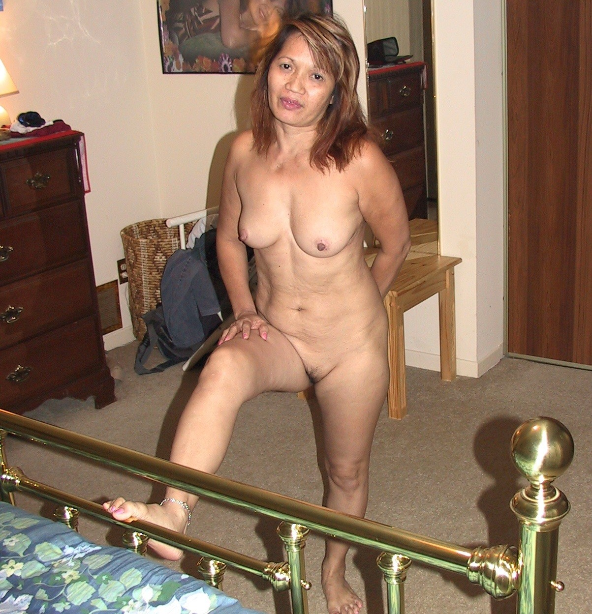 Muscular nude women with penis