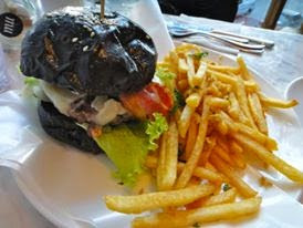 Black Monterey Burger with Cheese and Bacon MU Parlour