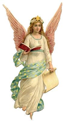 Vintage Рождество изображение ангела