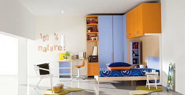lemari pakaian warna warni untuk kamar tidur modern
