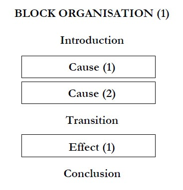 cause effect essay organization Essay excerpts (l-c-4-2_cause effect excerptdoc  after thinking about the different organizational strategies,  'does the process analysis organization still.