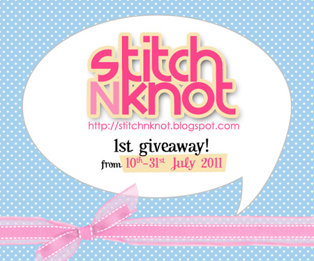 stitchNknot 1st giveaway!