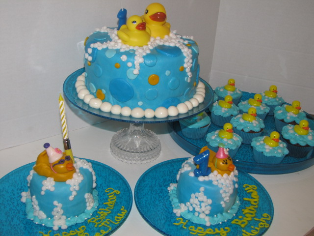 CedarGap Creations Cookies Rubber Ducky Themed First Birthday Party
