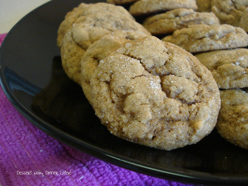Pumpkin Gingersnap Cookies - Dessert Now, Dinner Later!