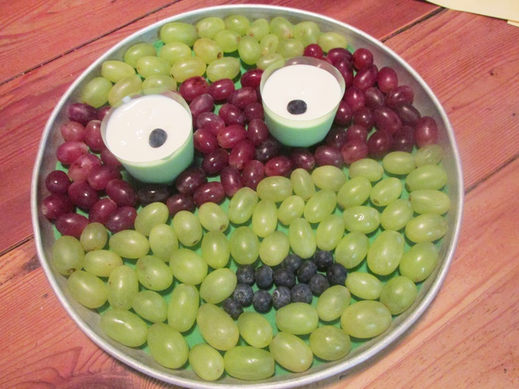 Ninja Turtle Face Fruit Platter