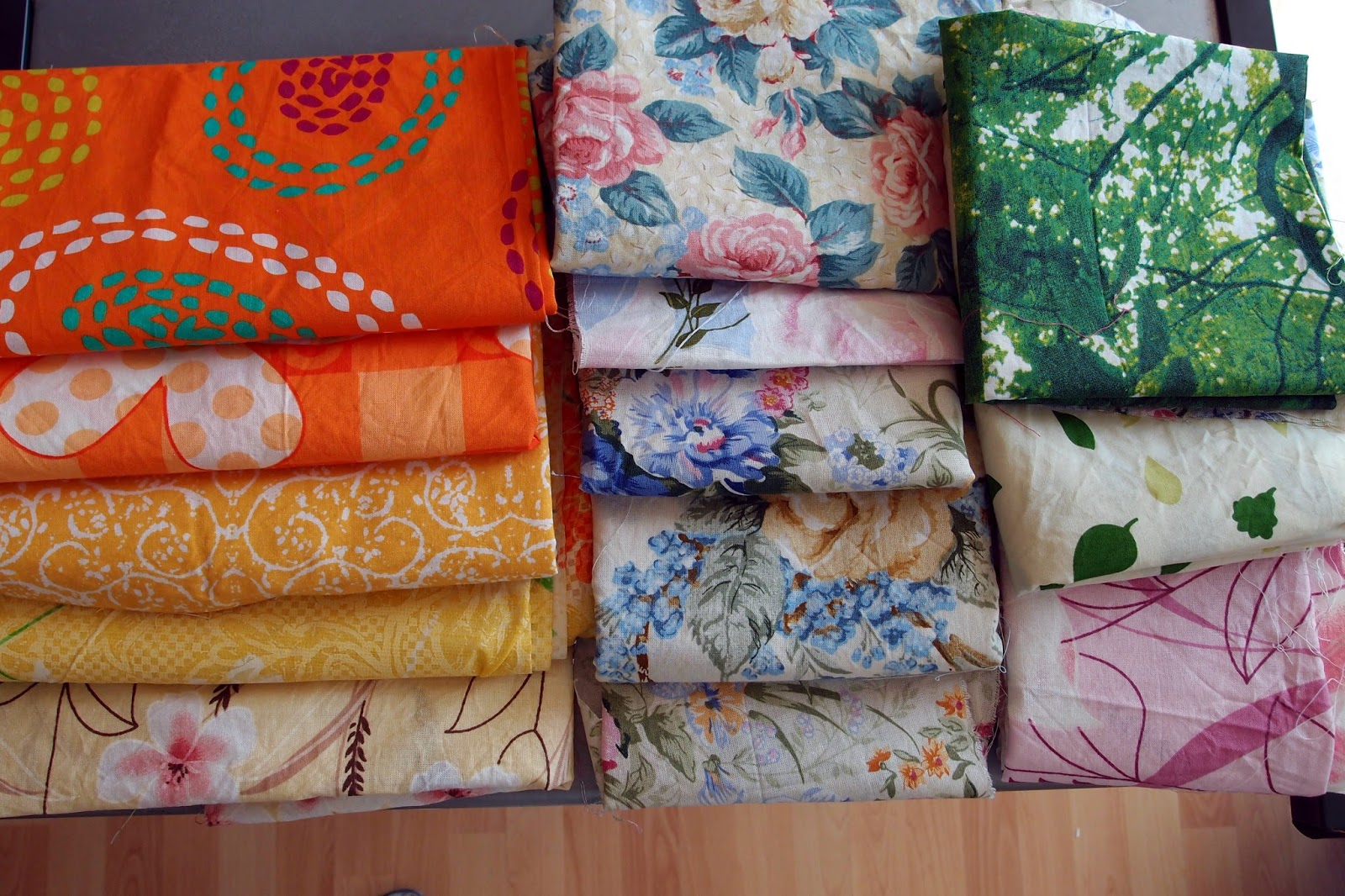 Watercolor Garden Quilts fabric choices