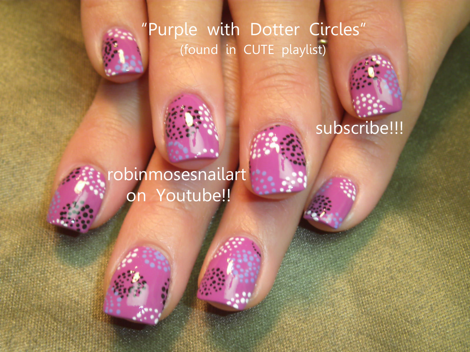 Pink And Purple Nail Art Designs
