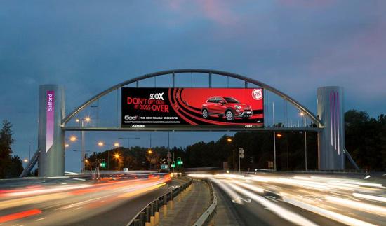 Salford Arch DOOH advertising