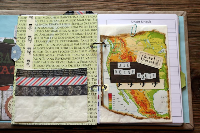 Reisejournal, Reisealbum, Scrapbooking, Scrapbook