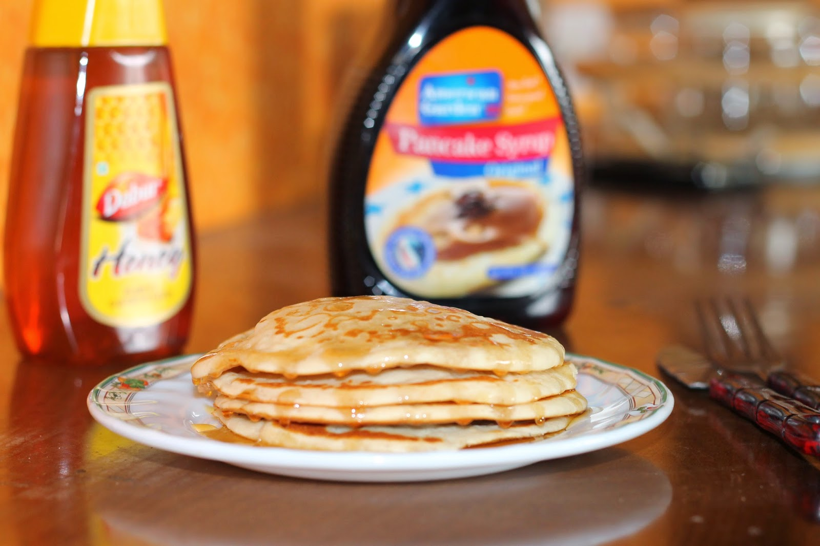 Food my passion fluffy pancakes today i decided to make simple but healthy breakfast of fluffy pancakes served with honey and maple syrup pancakes can also be served by garnishing it with ccuart Images