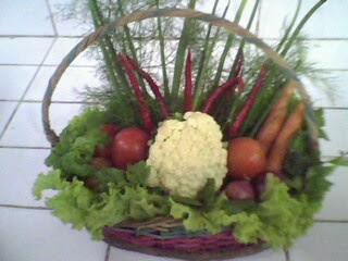 merangkai sayuran tema : go green