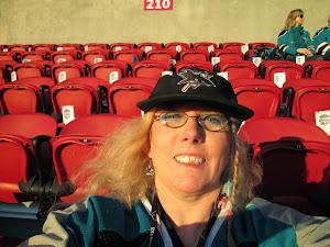 selfie at Sharks game