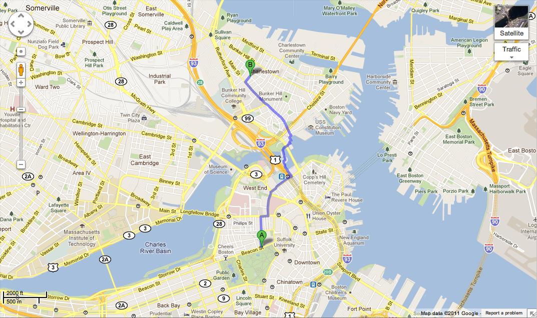 Alfa Img  Showing Gt Walking Map Of Downtown Boston