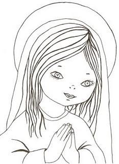 Compartiendo por amor: Dibujos Virgen niña María