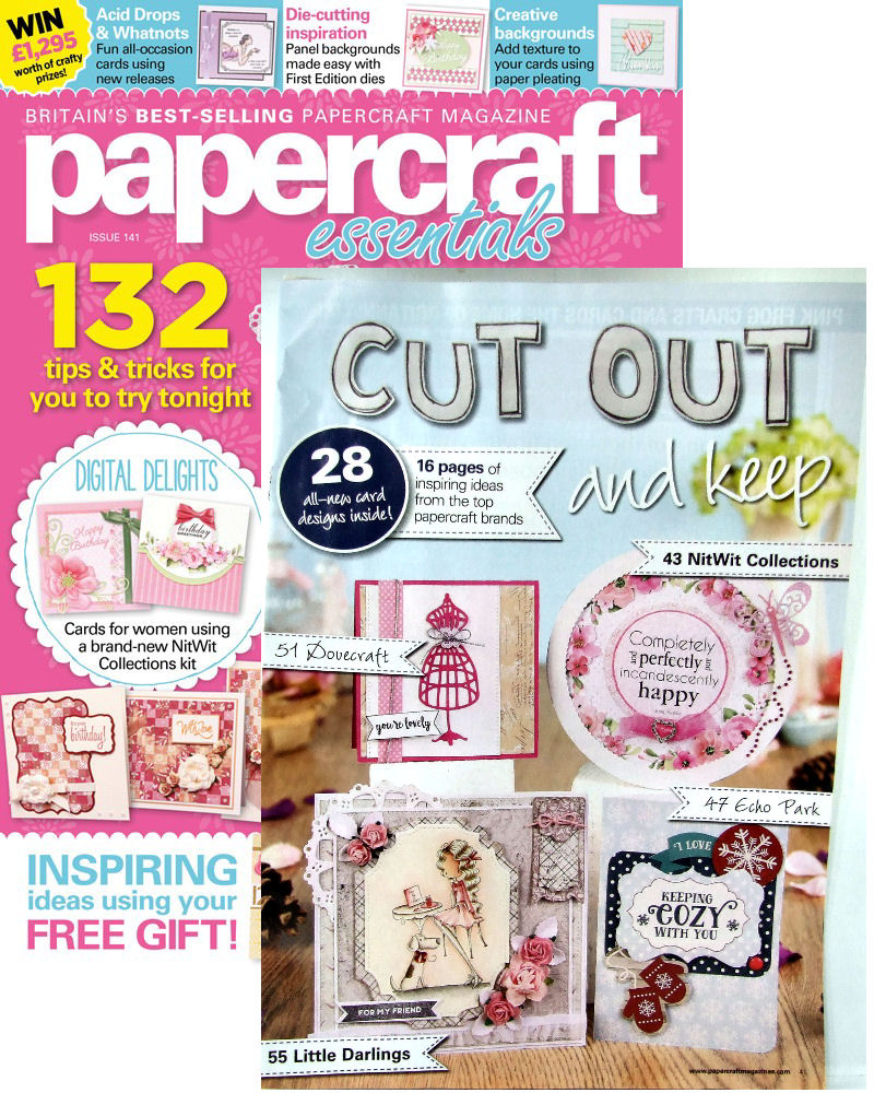 Yayyy I was published & on front cover of Cut Out