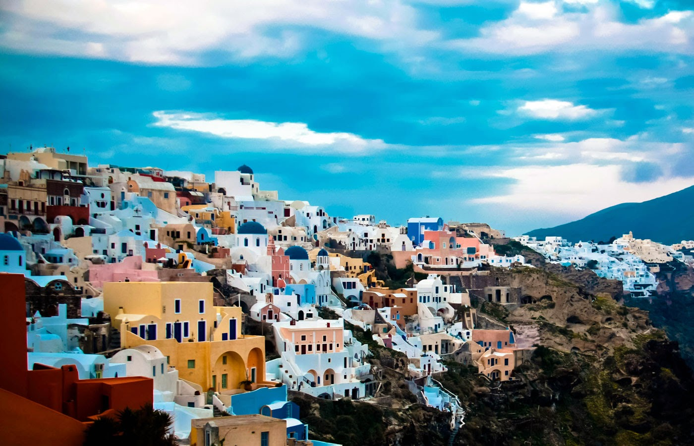 World Visits Tourists Place Santorini Colorful City Of Greece