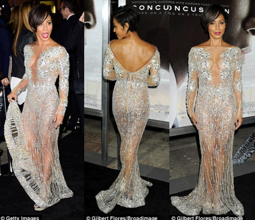 Jada Pickett Smith in Zuhair Murad concussion la will smith