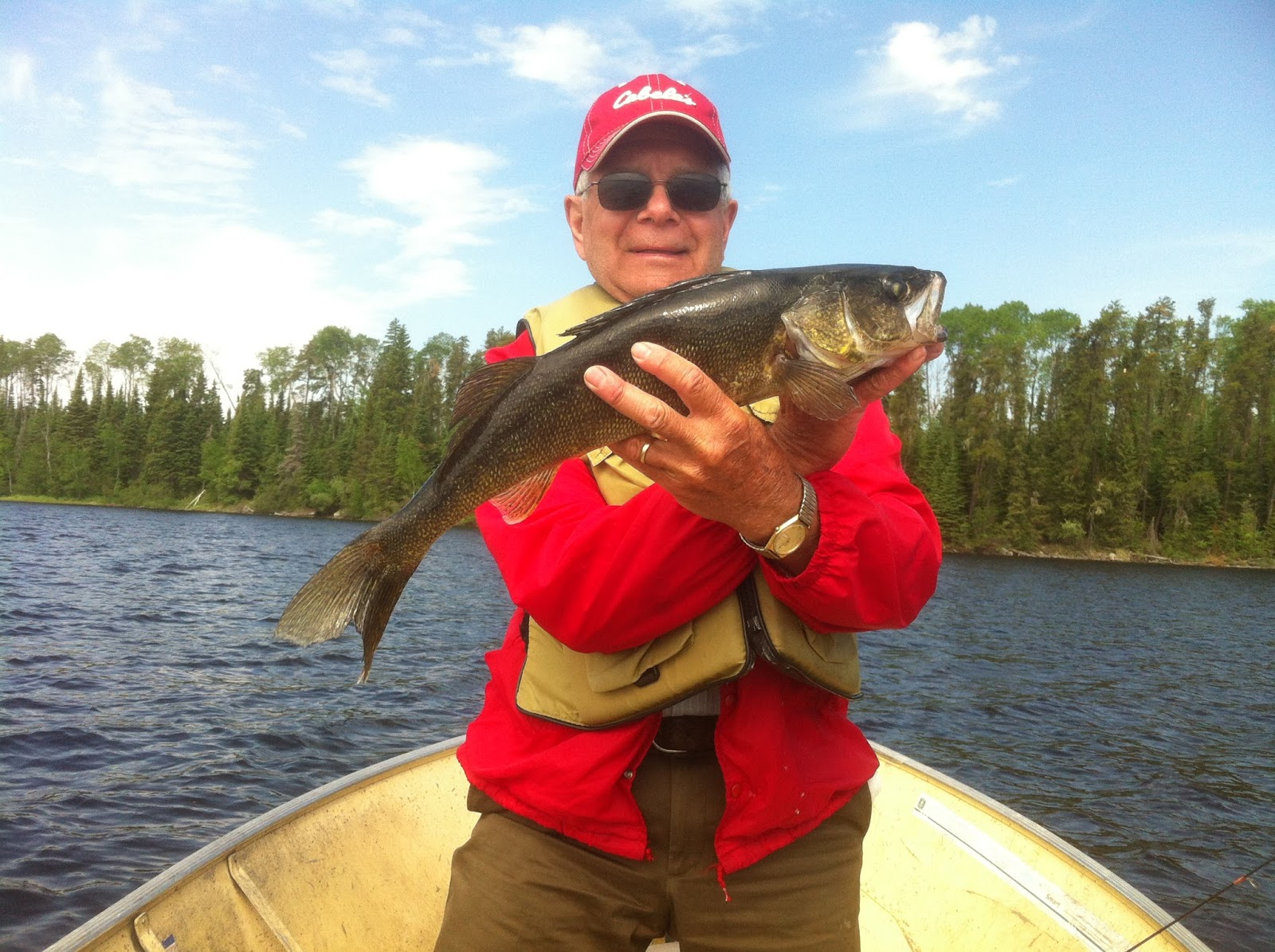 Eagle falls lodge red lake and parker lake mid june for Falls lake fishing