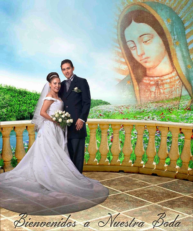 Paisaje con la virgen maría para bodas