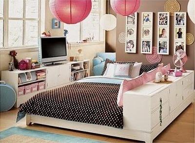 una decoracin muy juvenil en los dormitorios
