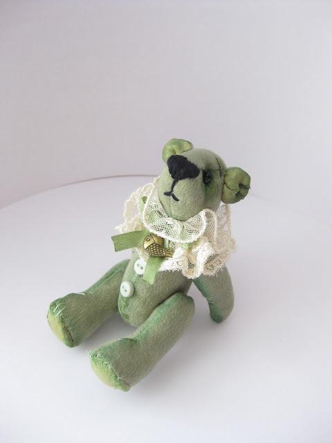 мягкая игрушка мини мишка в винтажном стиле