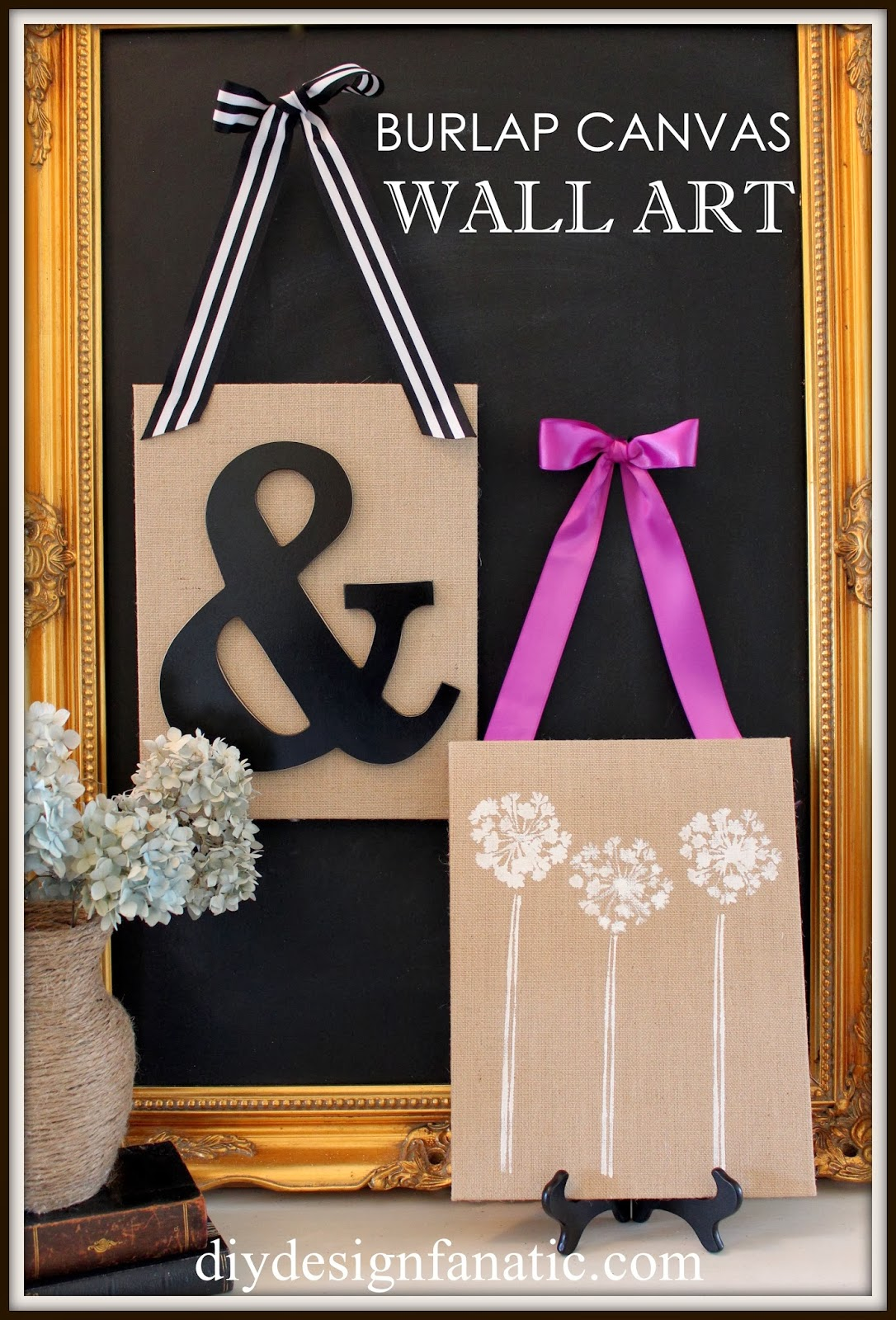 Best Yesterday I showed you how I made a super easy stenciled burlap wall art