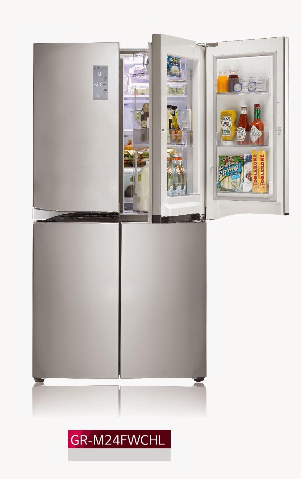 lg introduces new door in door refrigerator models pinoygadget. Black Bedroom Furniture Sets. Home Design Ideas