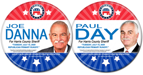 Joe Danna and Paul Day are the Rep Runoff Candidates for Harris County Sheriff