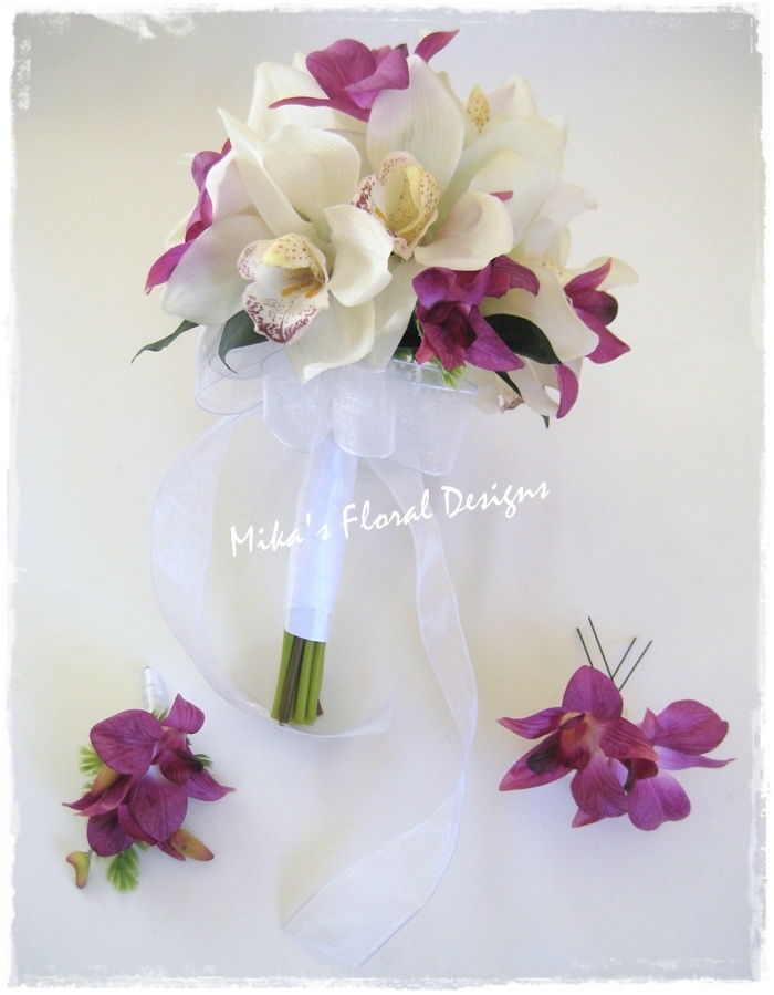 orchid floral arrangements for weddings