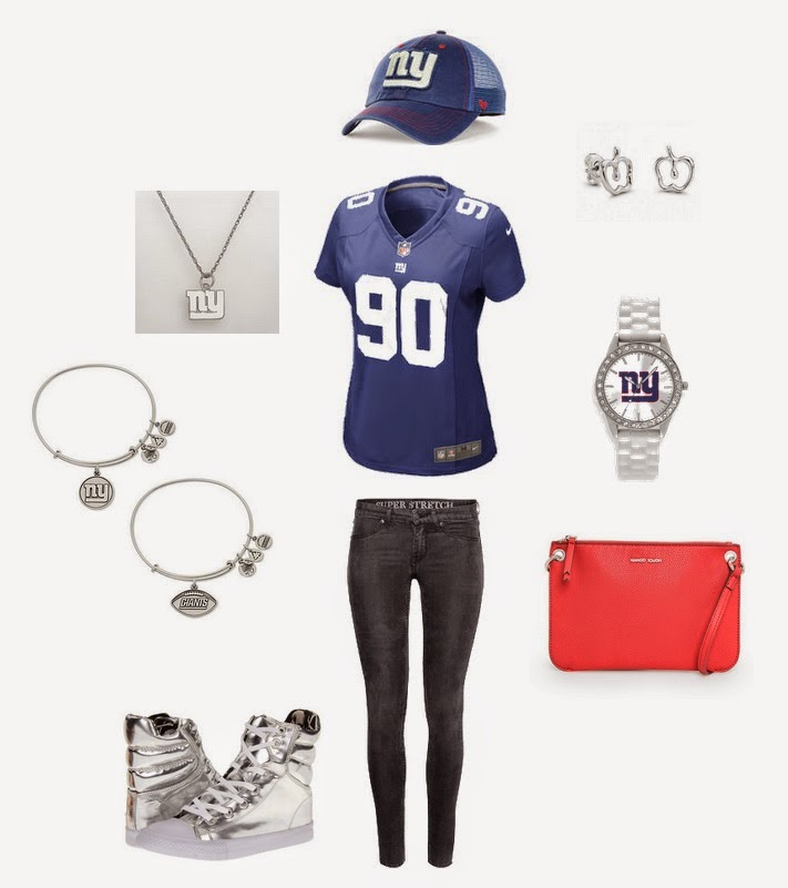 New York Giants fan style for the NFL Draft