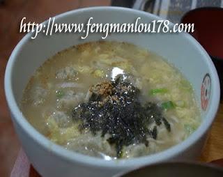 饺子紫菜蛋花汤