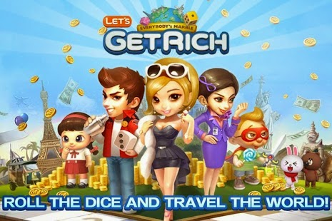 Game LINE Let's Get Rich Monopoly di Smartphone