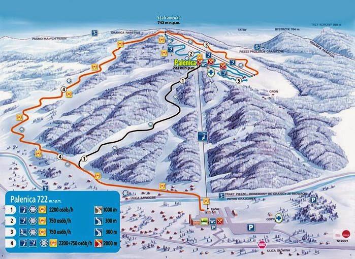 Szczawnica trasy narciarskie