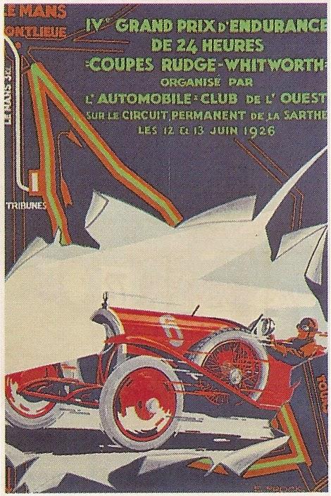 Affiche officielle des 24 Heures du Mans 1926