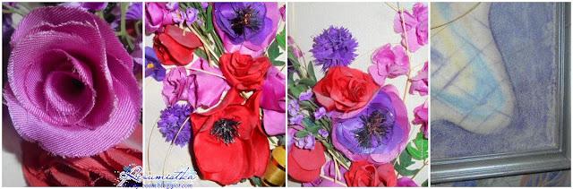 композиция из цветов в картине