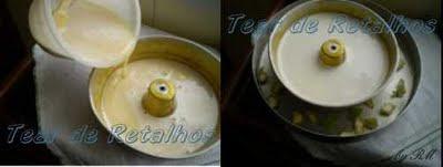 Colocar a mistura na forma e assar o pudim de leite em banho-maria