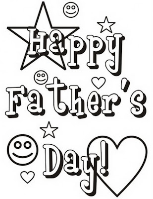 Father's Day Card Coloring Page