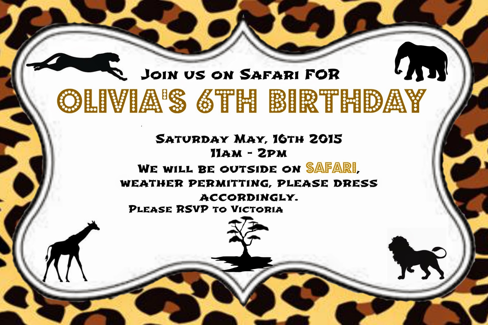 Cakes...Or Something Like That: Safari Themed Birthday Party ...