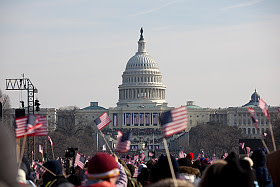 Getty Images, Obama inauguration crowd--US Capitol