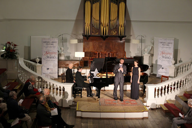 Jonathan Lakeland (piano) with Michael Mofidian and Olivia Warburton Holywell Music Room, Oxford Lieder 2015 credit Robert Piwko