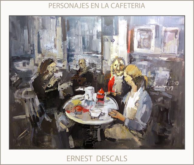 CAFETERIA-PERSONAJES-PINTURAS-CAFETERIAS-PINTURA-CUADROS-ARTISTA-PINTOR-ERNEST DESCALS-