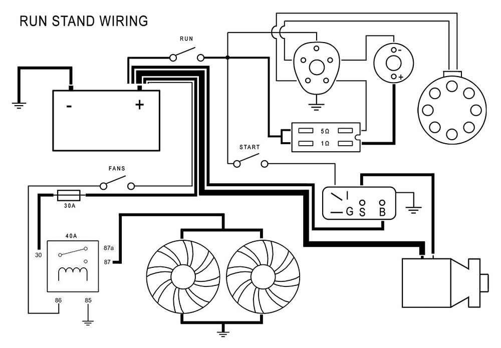 run_stand_wiring_diagram_01 beck kustoms aaron beck may 2012 HEI Distributor Wiring Diagram at crackthecode.co
