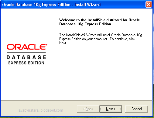 Installing Oracle Database 10g Express Edition_003