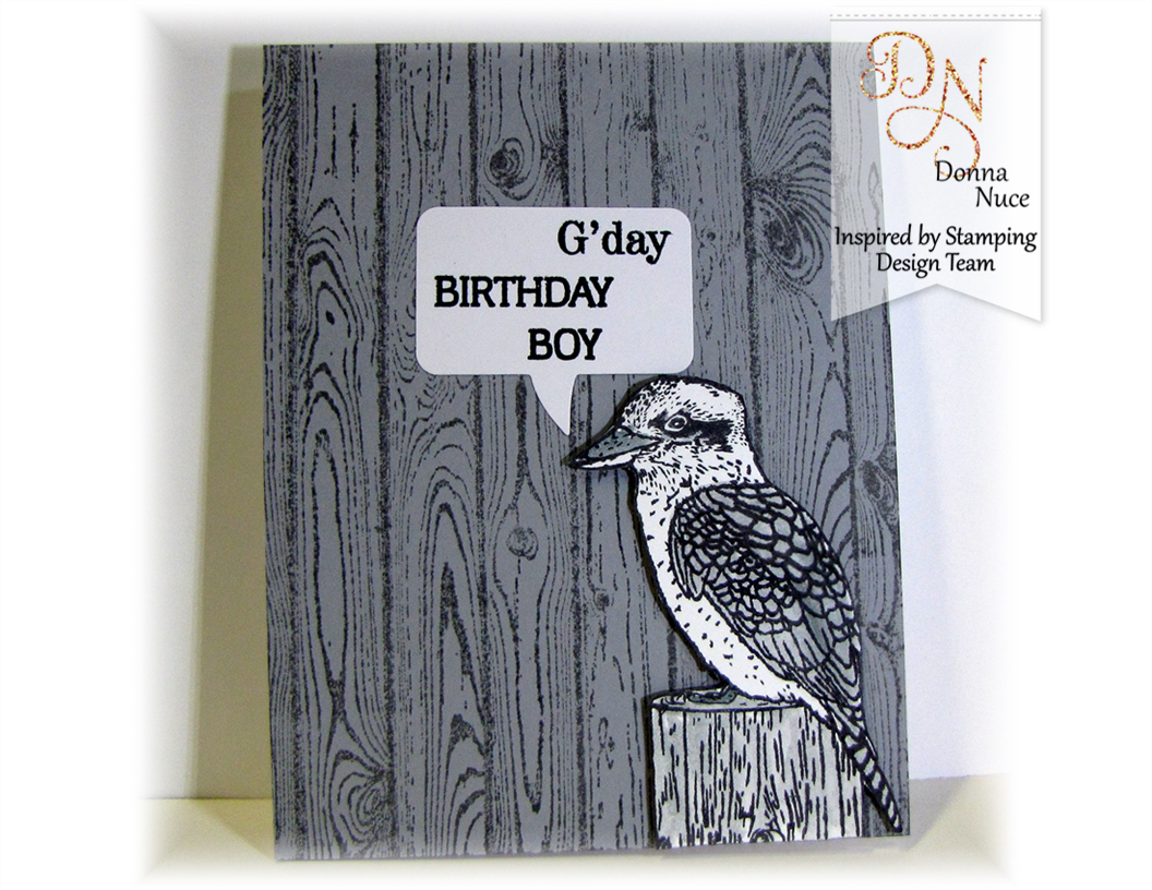 Inspired by Stamping, Crafty Colonel, Australian Birds, Boy Birthday
